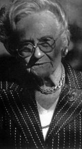 Janina z Ruszkowskich Koscielska podczas wręczenia Nagrody Koscielskich w Miłosławiu, 2005 rok.  Źródło: Archiwum Wociecha Klasa (fotografia nadesłana przez E. Gajewicz z Miłosławia).
