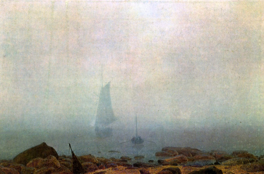 Caspar David Friedrich, Brzeg morski we mgle.